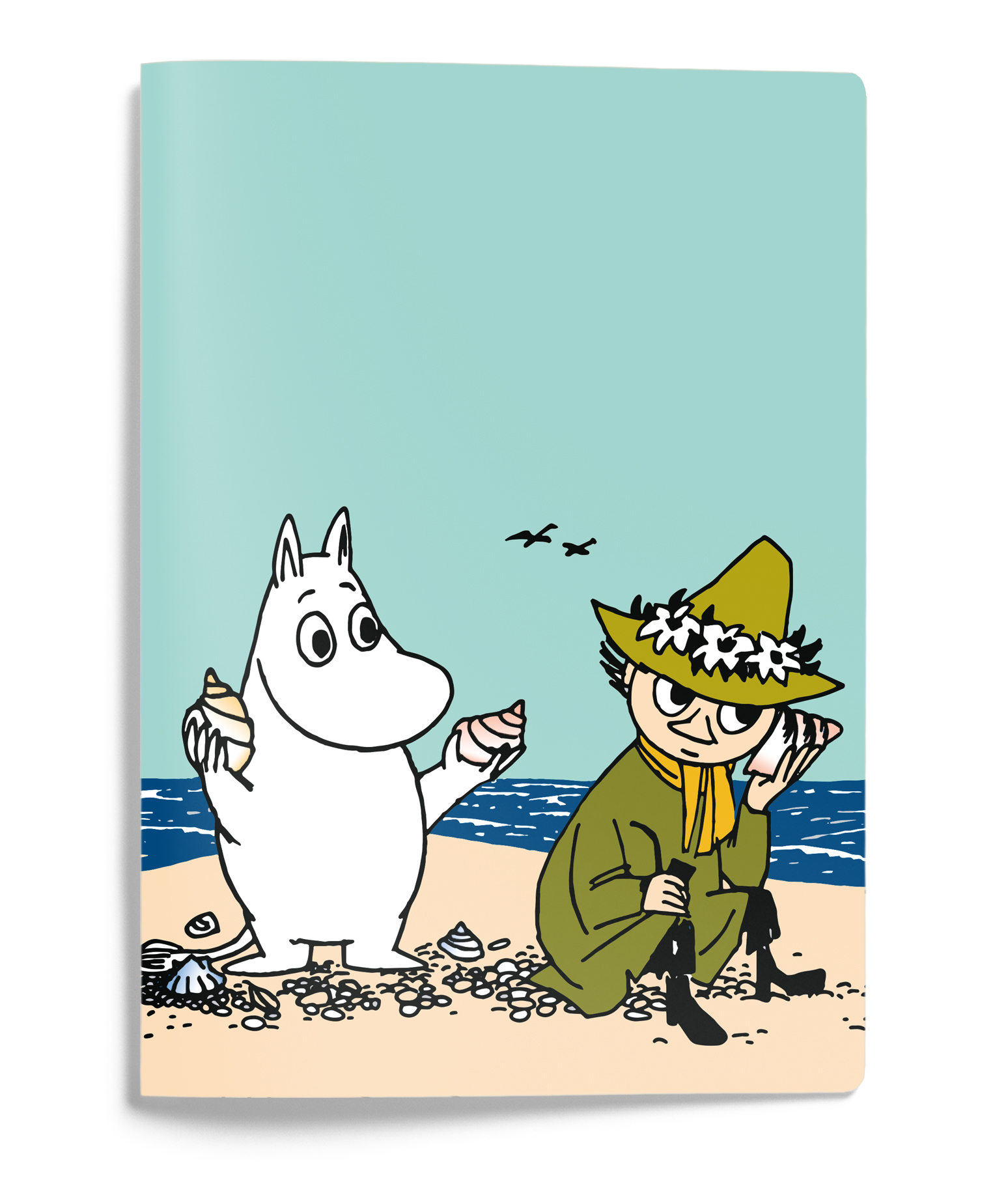 Putinki Softcover Notebook A5 Moomintroll and Snufkin on a shore