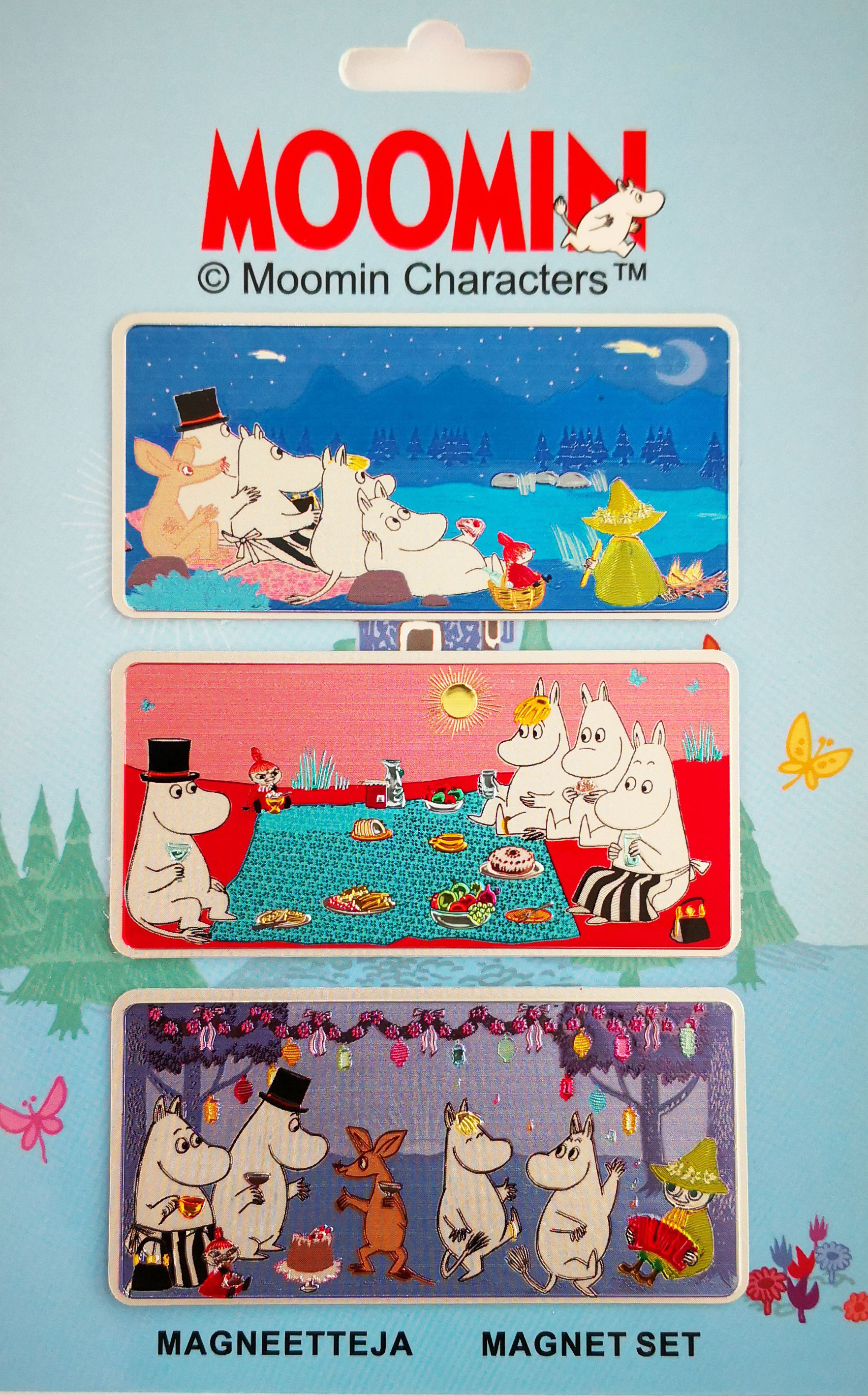 TMF Trade Moomin Family magnet set