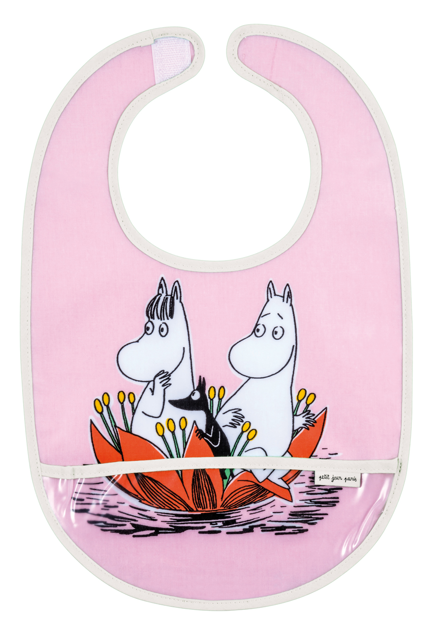 Petit Jour PVC coated cotton bib pink