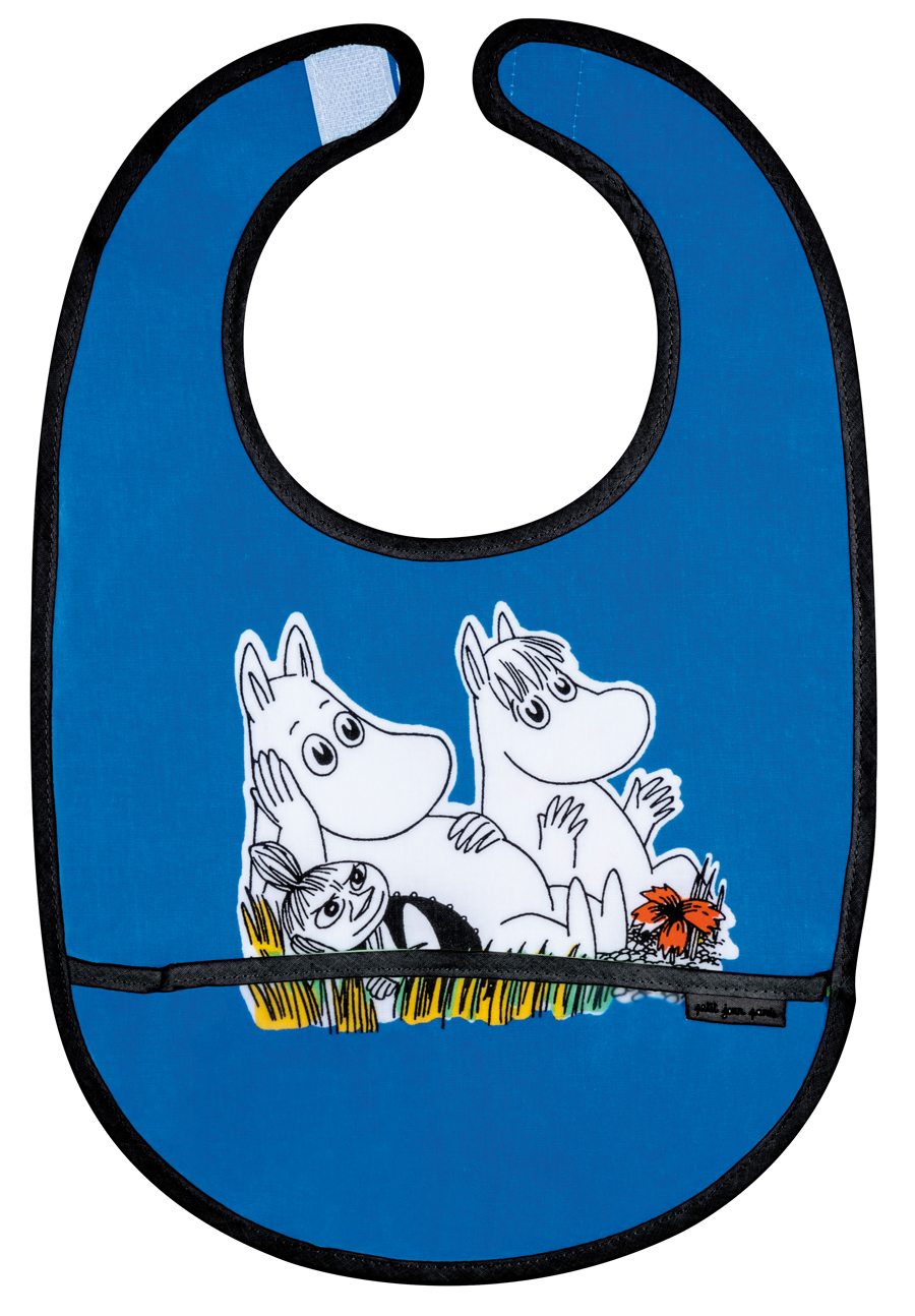 Petit Jour PVC coated cotton bib blue