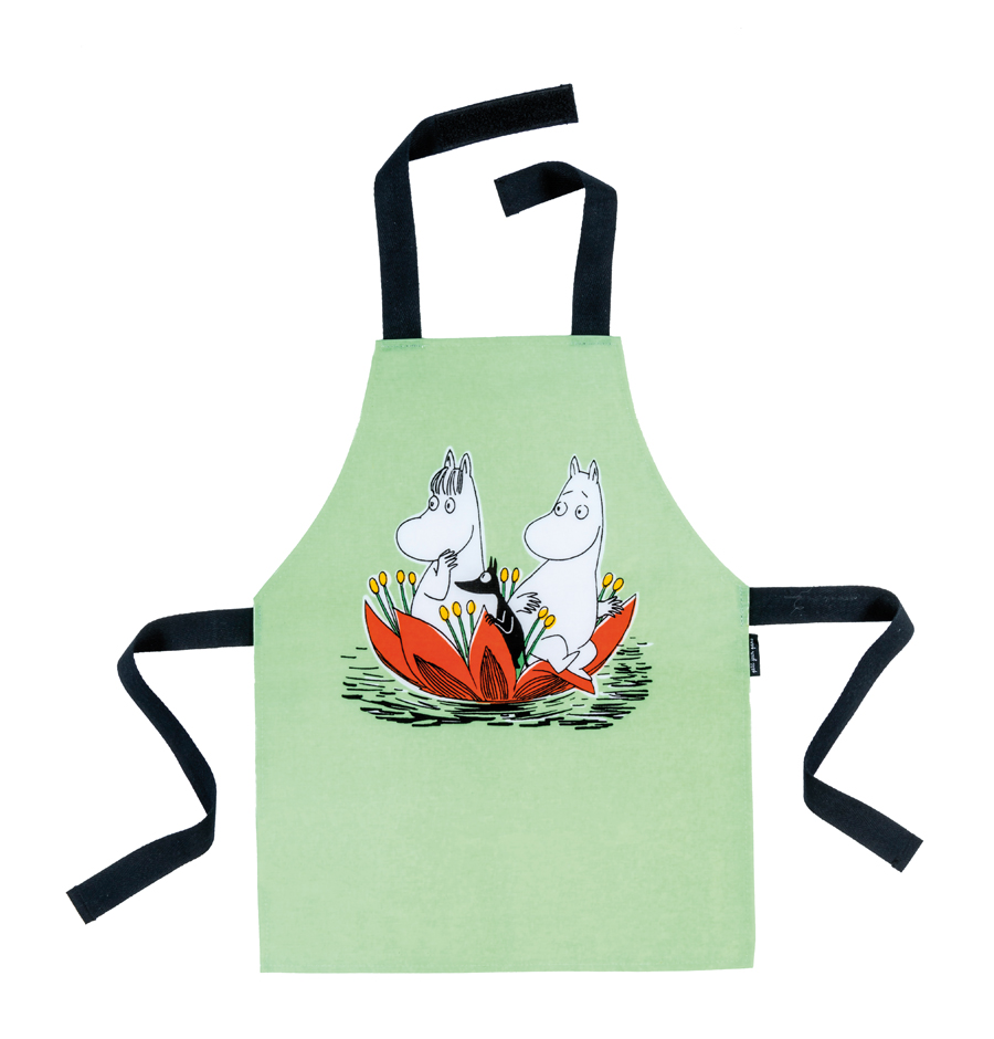 Petit Jour PVC coated cotton apron green