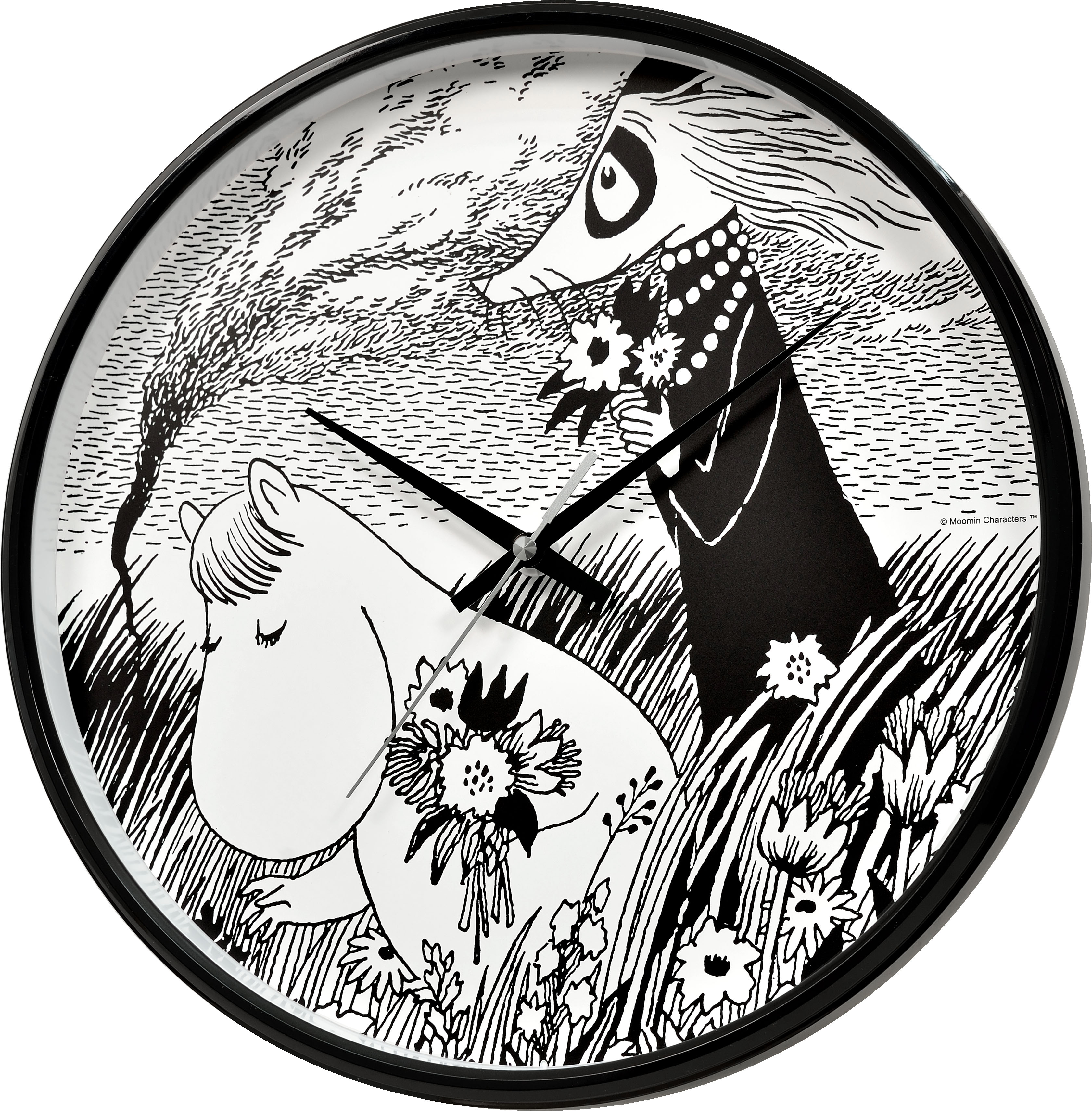 Saurum Wall Clock - Snorkmaiden in Meadow