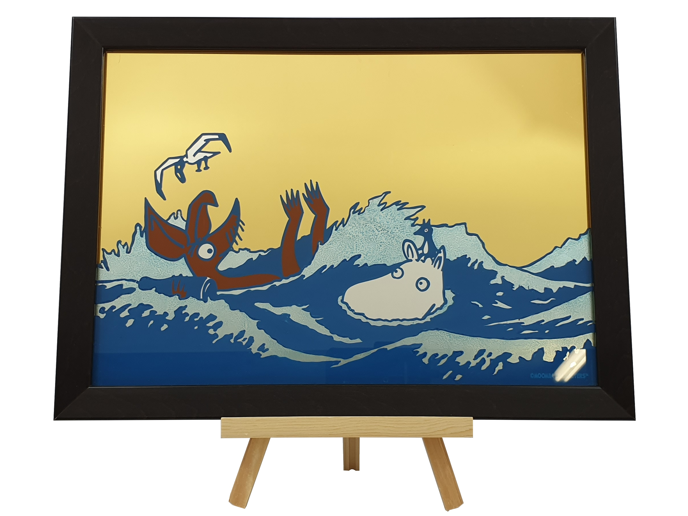 Oslo Skiltmaler Moomin Glass Art | #OurSea Campaign Glass no. 1
