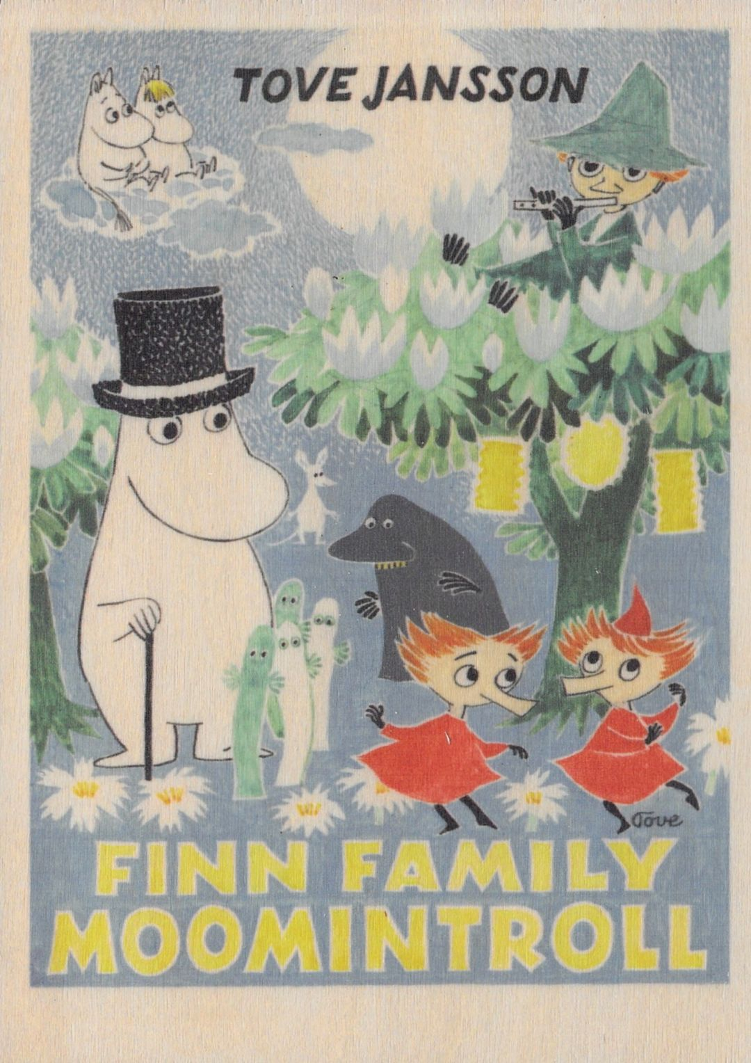 Come to Finland wooden artwork 15 x 21 cm Finn Family MU-A5-6
