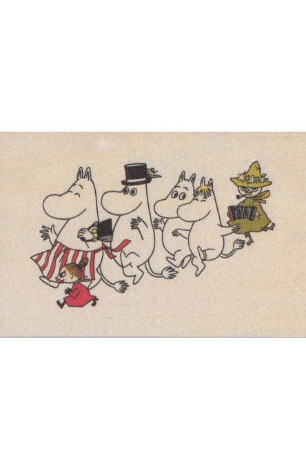 Come to Finland wooden postcard Moomins MU10