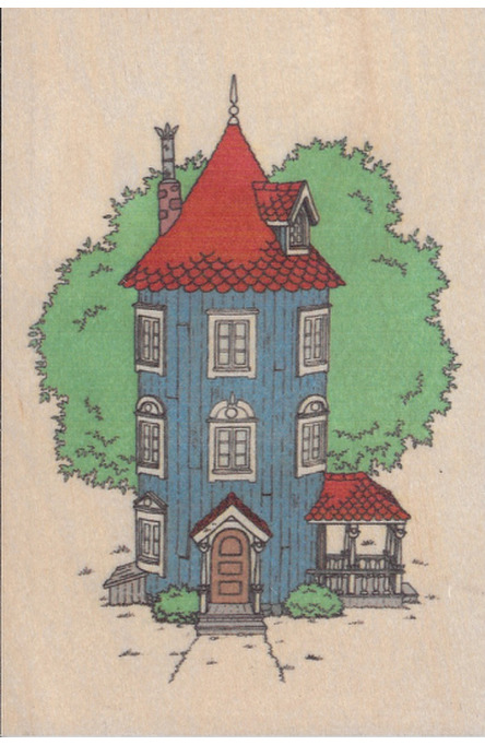 Come to Finland wooden postcard Moominhouse MU14
