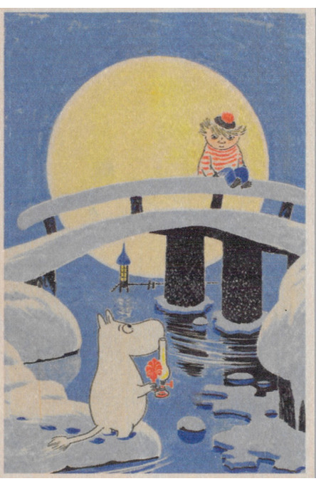 Come to Finland wooden postcard Midwinter MU29