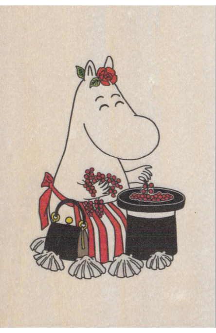 Come to Finland wooden postcard Moominmamma MU2