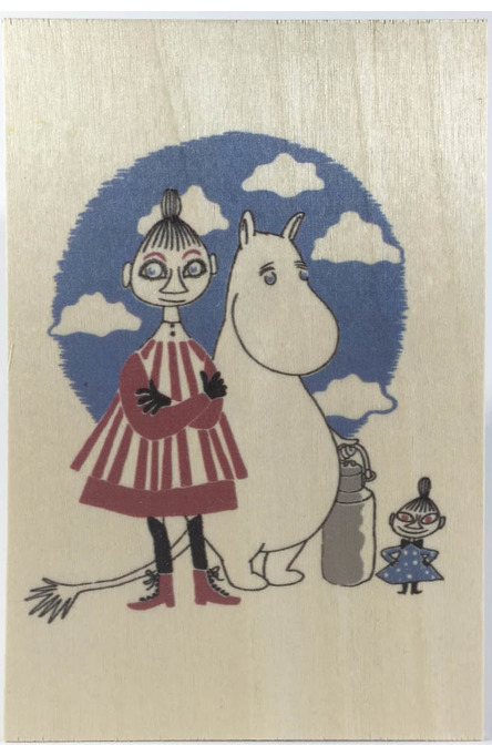 Come to Finland wooden postcard Mymble & Little My MU30