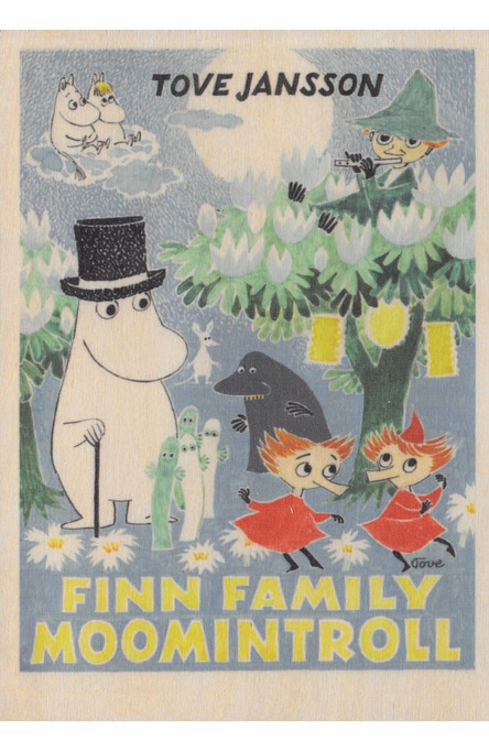 Come to Finland wooden postcard Finn Family MU39