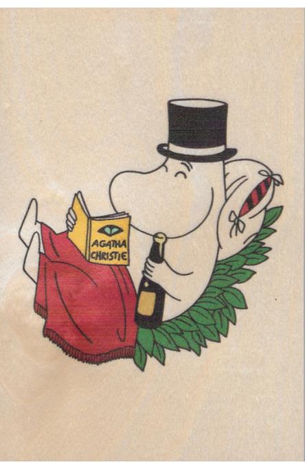 Come to Finland wooden postcard Moominpappa MU2