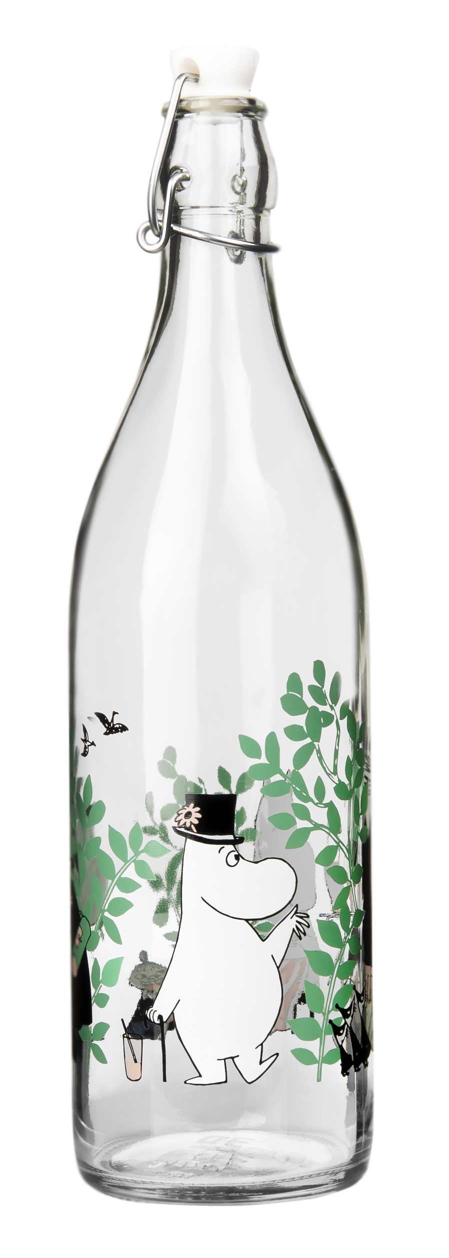 Muurla Moomin Garden - Day in the garden glass bottle 1 L