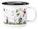 Muurla  enamel mug 1,5dl Happy Family