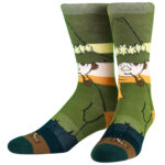 NVRLND Moomin Snufkin Stripe Crew Socks