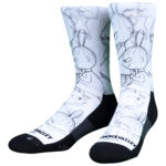 NVRLND Moomin Little My Sketch Crew Socks
