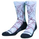 NVRLND Moomin Snufkin Sketch Crew Socks