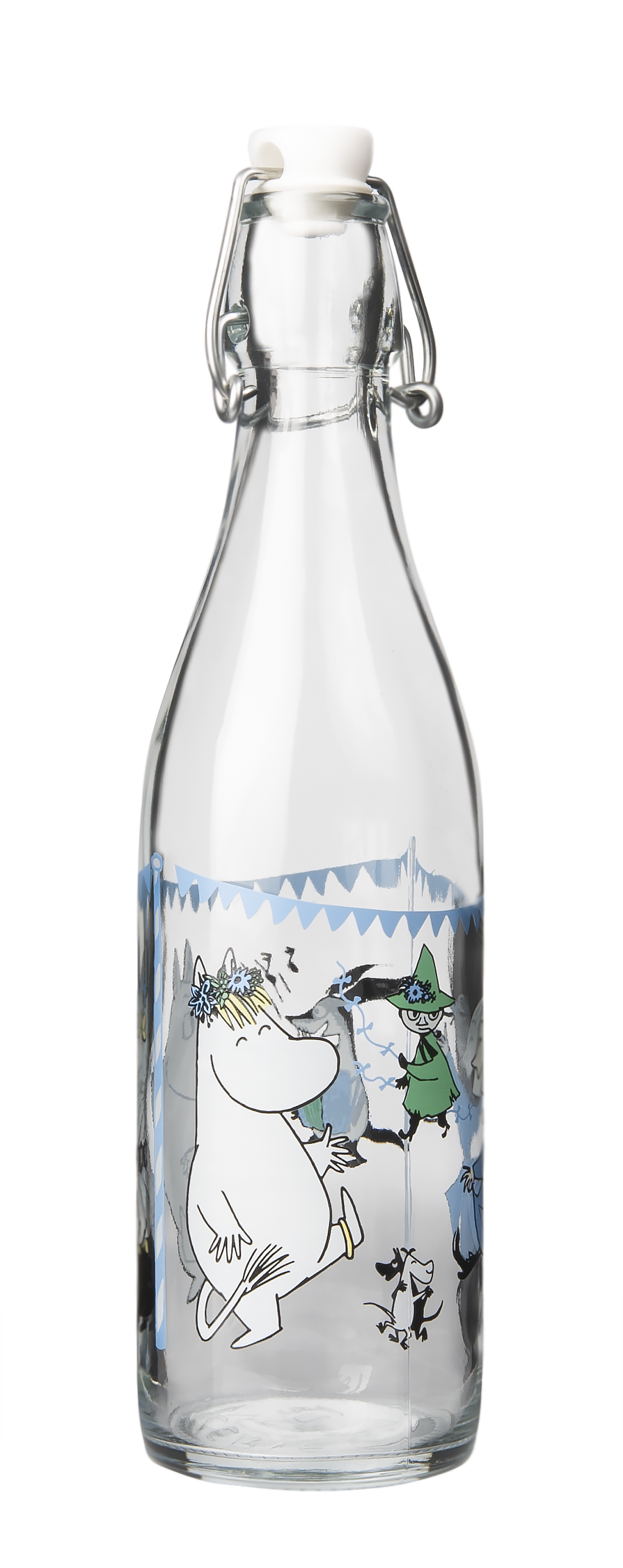 Muurla Moomin Garden - Summer party glass bottle 0,5 L