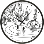 Saurum Wall Clock - Little My Swimming