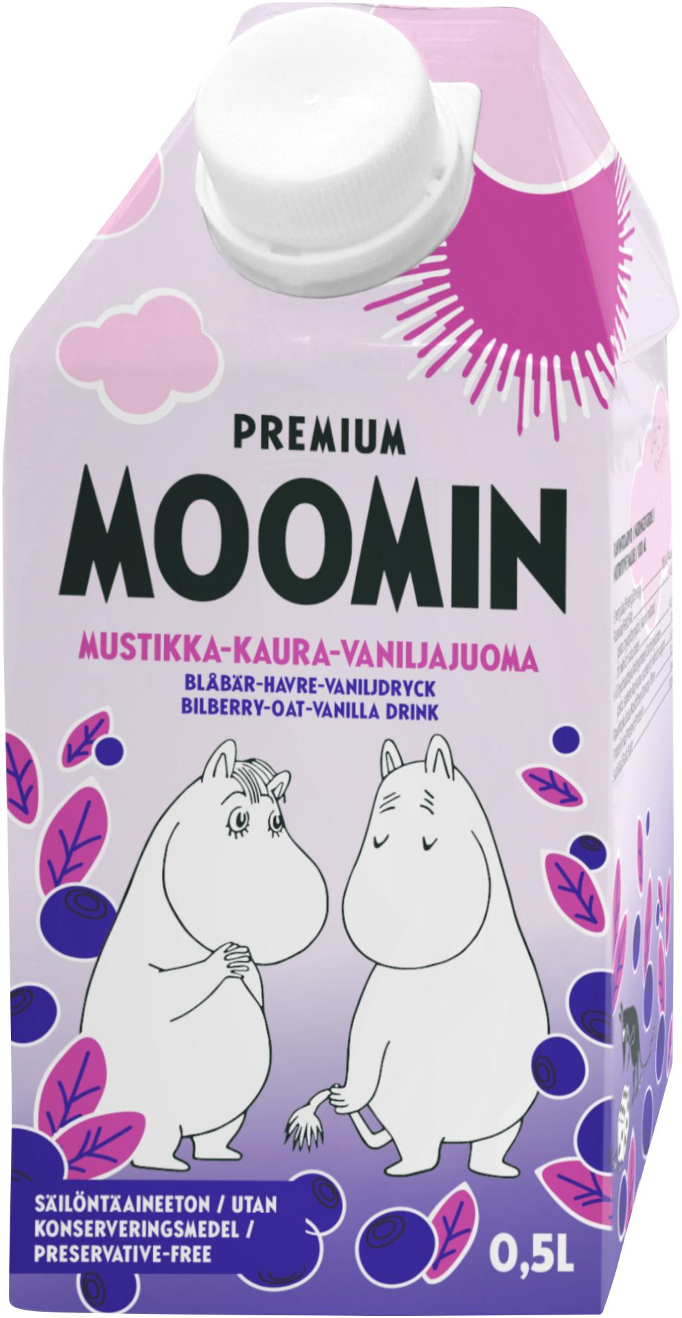 Bonne Premium Moomin Bilberry-oat-vanilla Drink