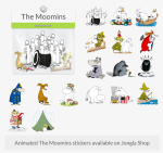 Jongla The Moomins Stickers