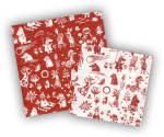Karto Napkins Tove red