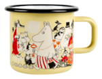 Muurla Moomin Shop enamel mug yellow 3,7 dl