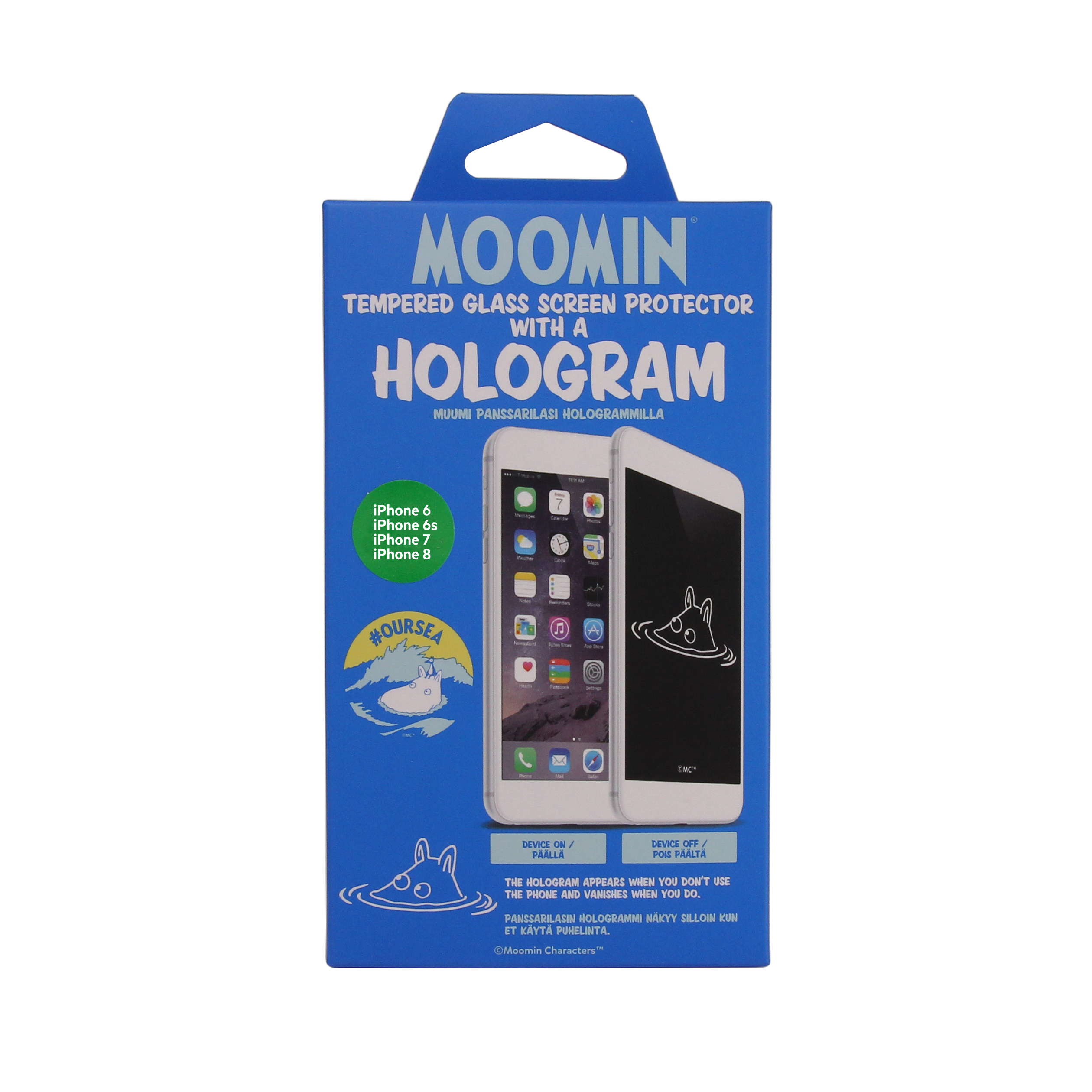 Moomintroll holographic screen protector