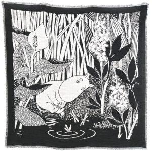 Lasessor scarf Dangerous Midsummer white/black