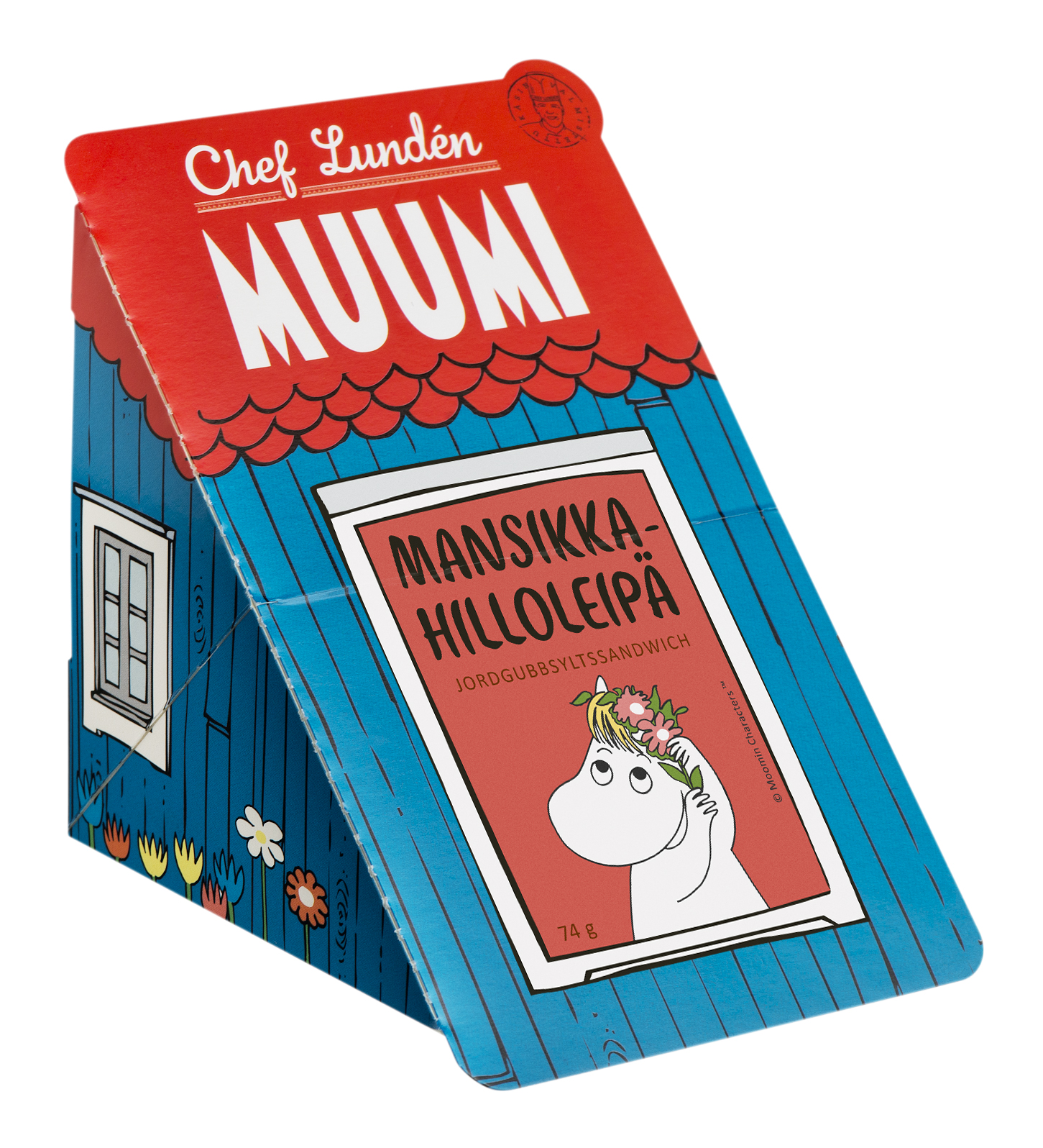 Chef Lundén Muumi Strawberry Jam Sandwich 74 g