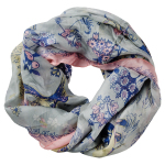 Lasessor Picnic silk snood light grey