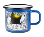 Muurla enamel mug 3,7dl, Winter in Moomin valley