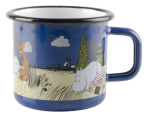 Muurla Enamel mug 3,7dl The land of happiness