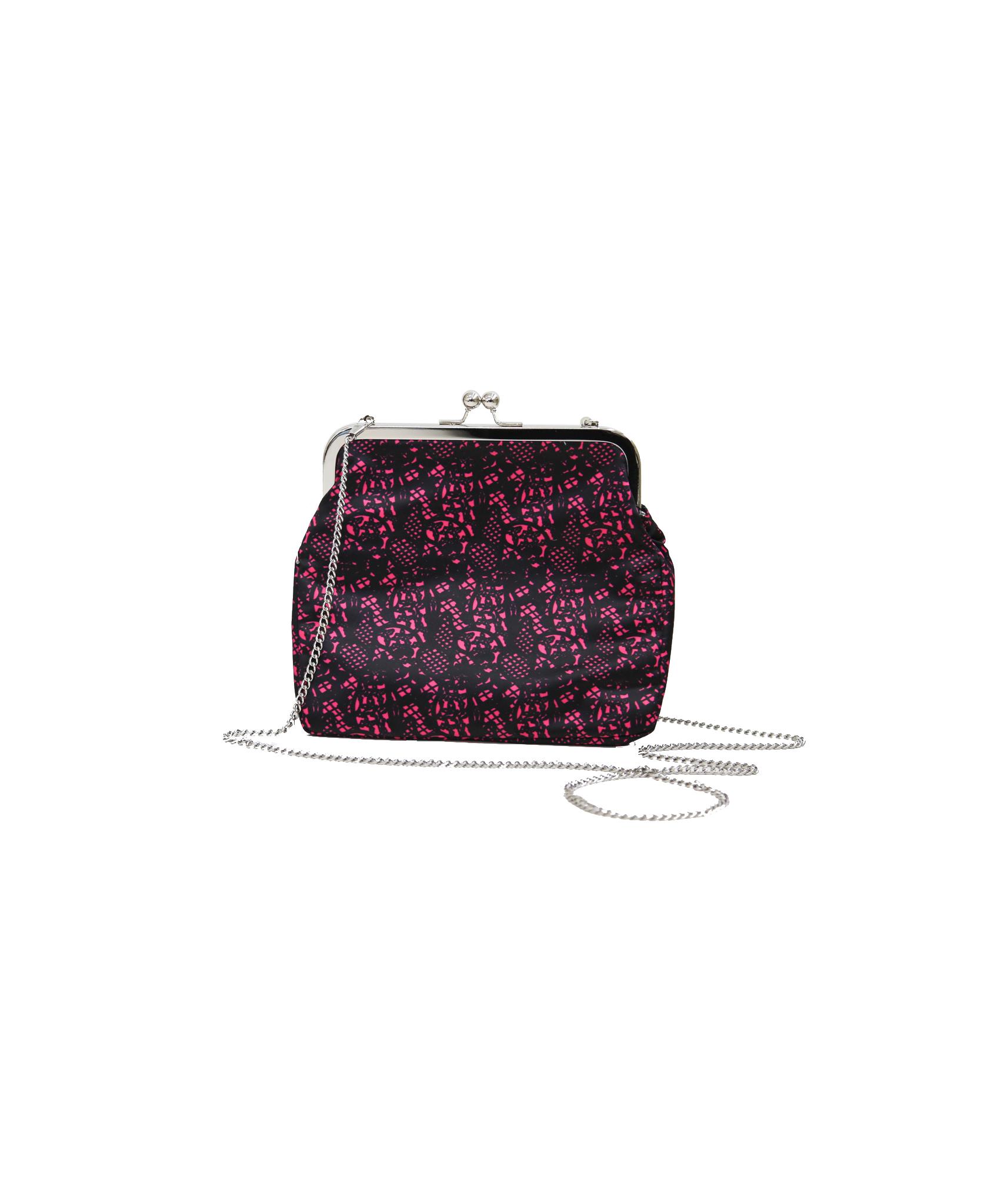 Ivana Helsinki Moomin Printed Lace Purse L pink