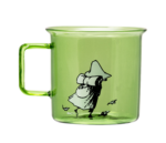 Moomin Originals by MuurlaSnufkin glass mug 3,5 dl green