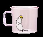 Moomin Originals by Muurla Snorkmaidenglass mug 3,5 dl pink
