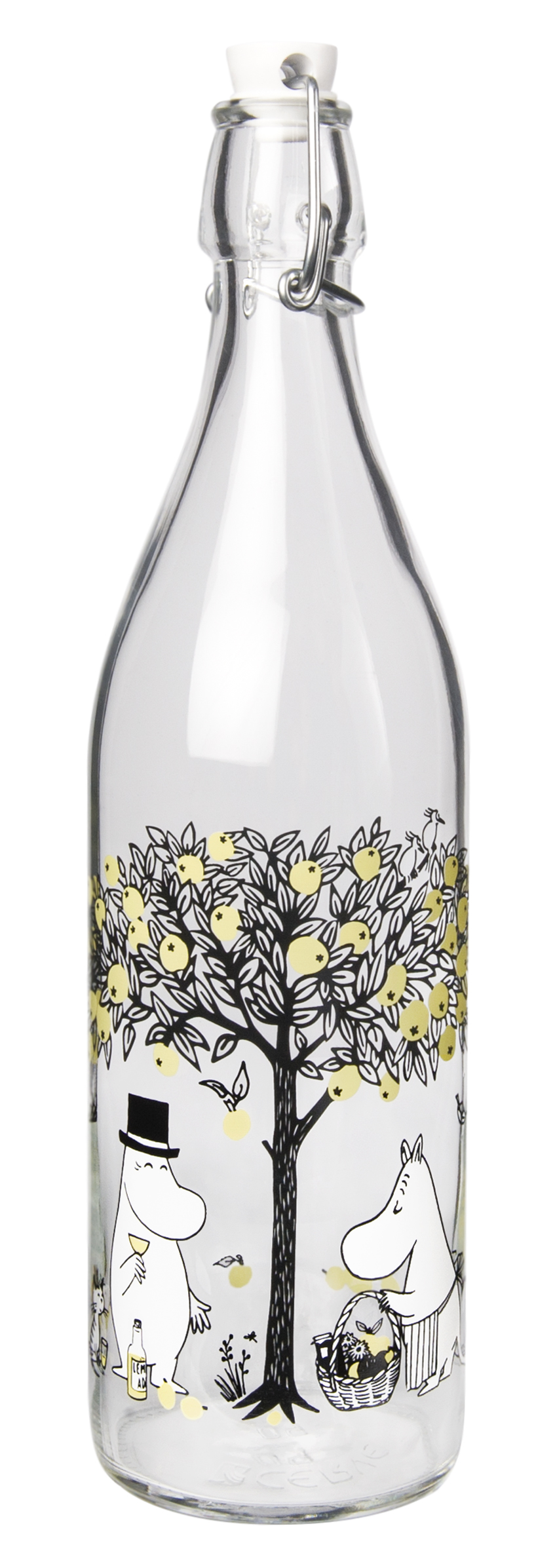 Muurla Moomin Apples glass bottle 1 L