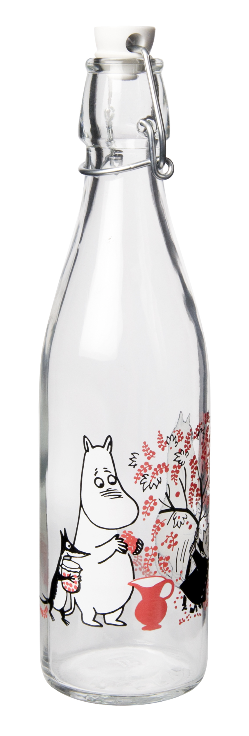 Muurla Moomin Berries glass bottle 0,5 L