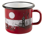 Muurla candle in 2,5dl enamel mug, Night in Moominvalley