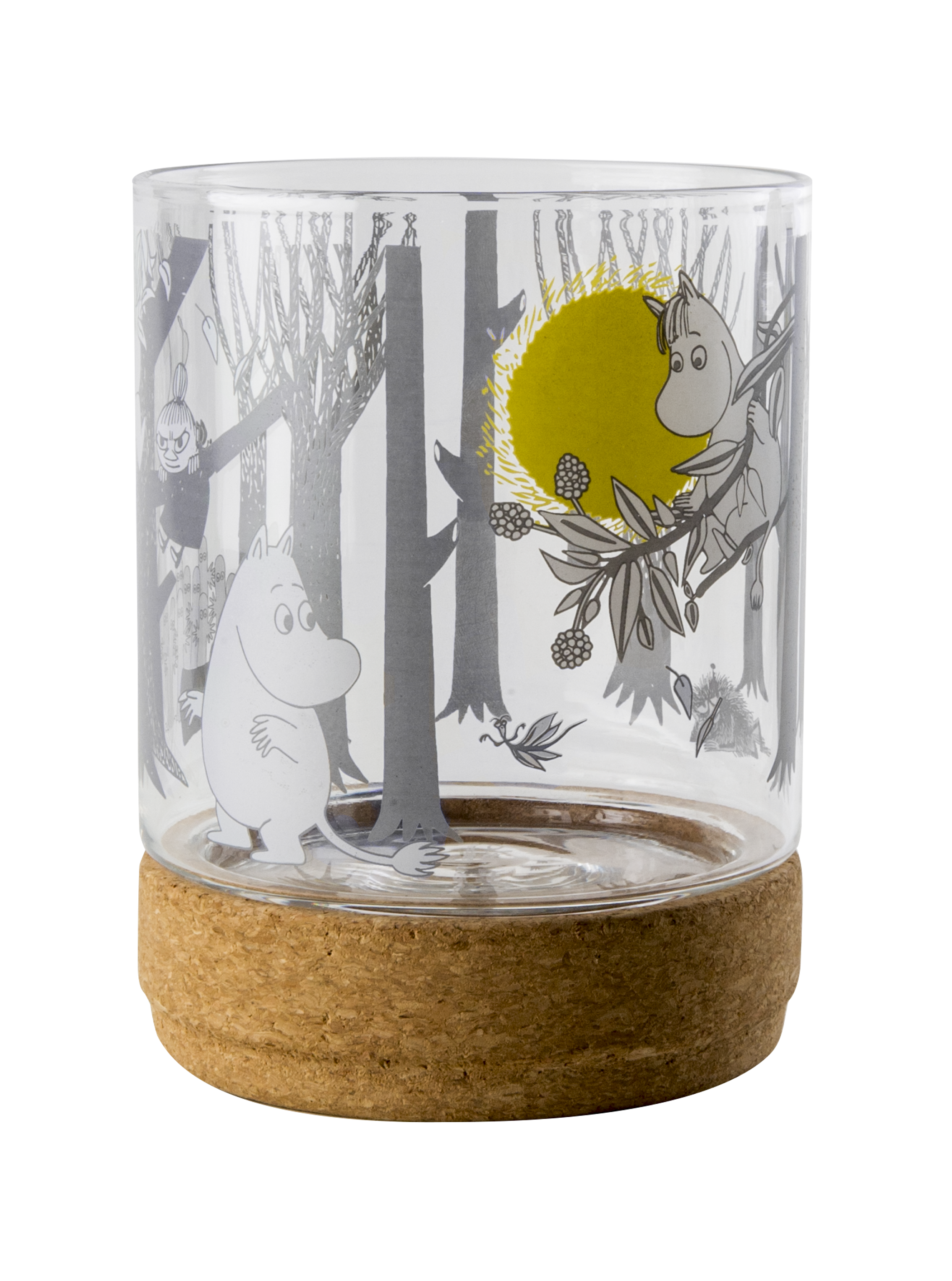 Muurla lantern/jar with cork stand/lid, Moomin Forest