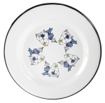 Muurla enamel plate 24cm Friends blue