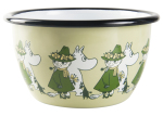 Muurla enamel bowl 6dl Friends green