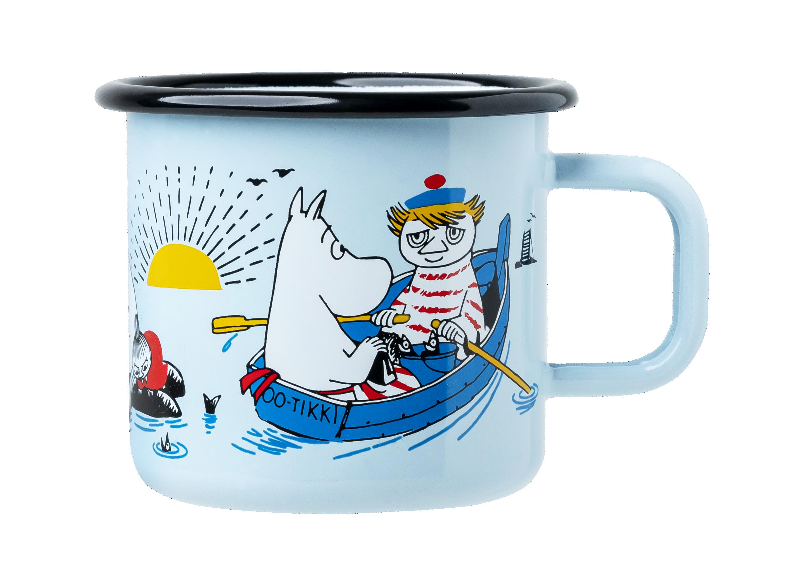 Muurla Moomin Helsinki #OURSEA enamel mug 3,7 dl
