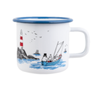Muurla Moomin #OURSEA Sailing together enamel mug 3,7 dl