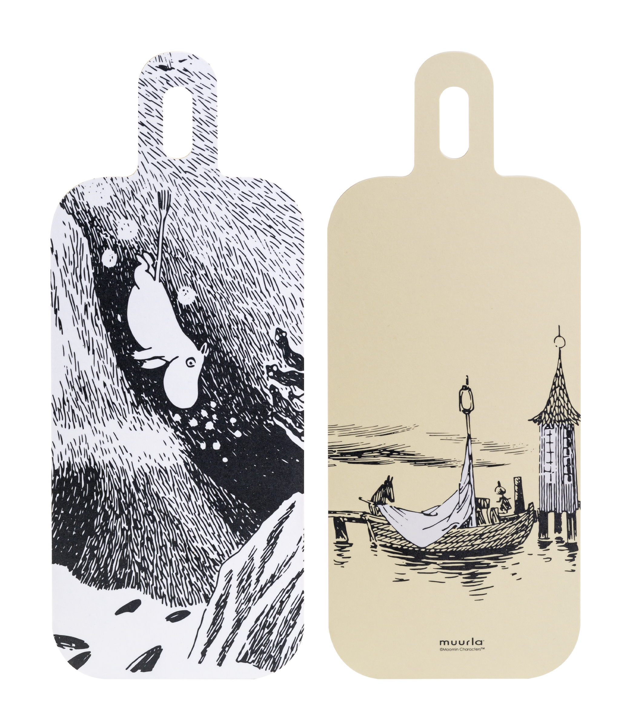 Moomin Originals by Muurla - Adventures on the Water - Chop & Serve board 13x33cm