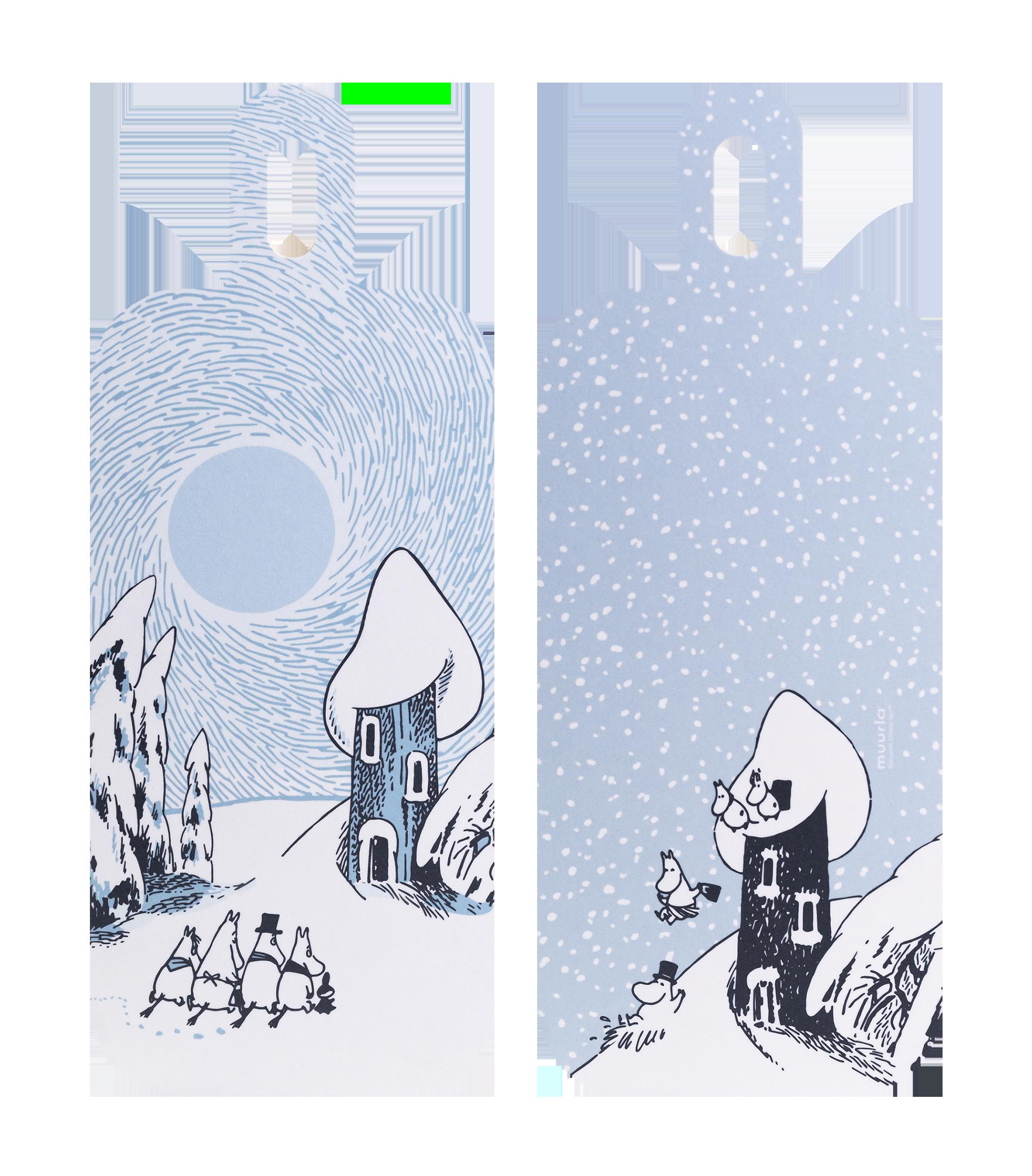 Moomin by Muurla - Snowy valley - Chop & Serve board 13x13 cm