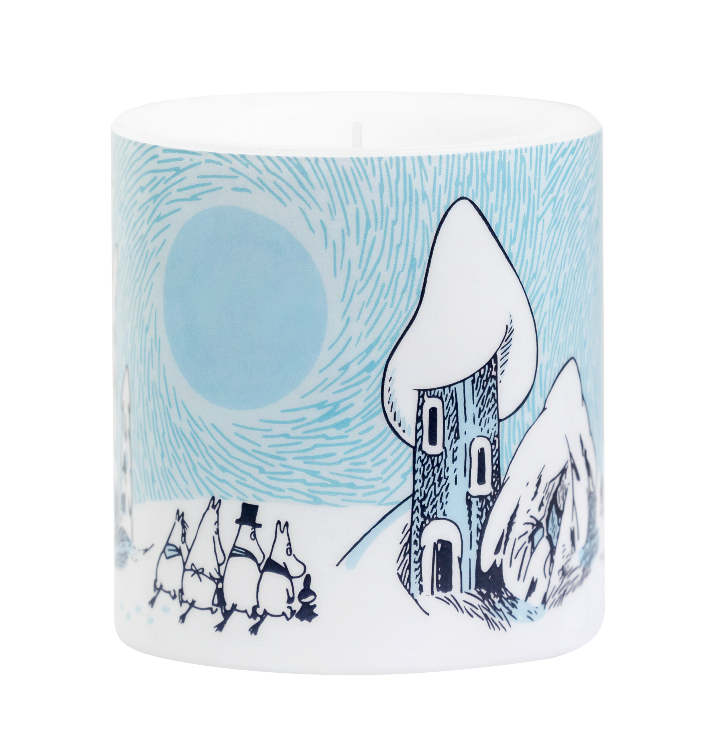 Moomin by Muurla Snowy Valley candle 8 cm