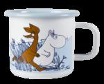 Muurla Moomin Stormy day enamel mug 3,7 dl