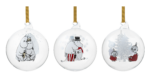 Moomin by Muurla Talven tunnelmaa decoration ball 9 cm, set of 3
