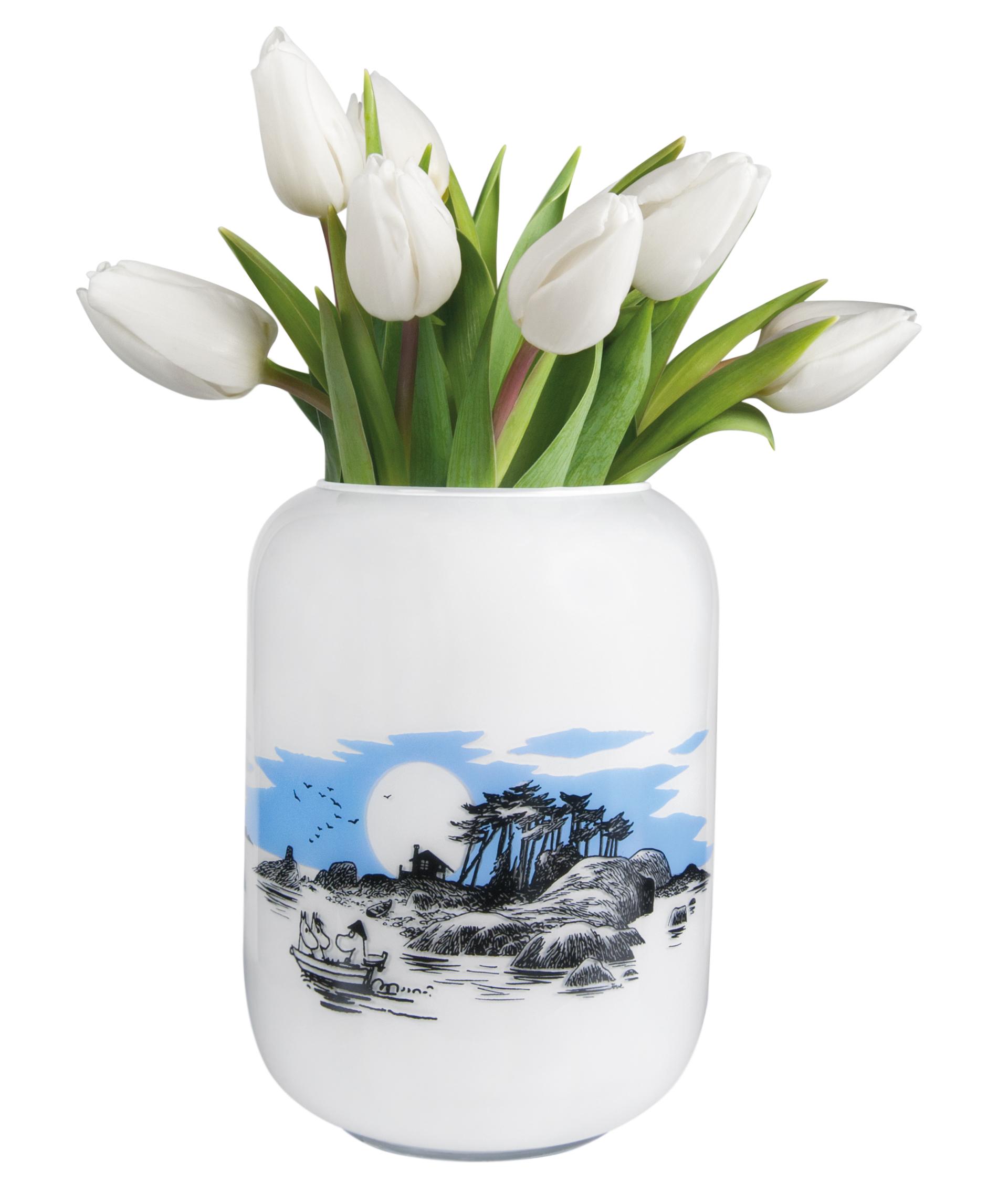 Muurla Moomin Island glass vase 19 cm