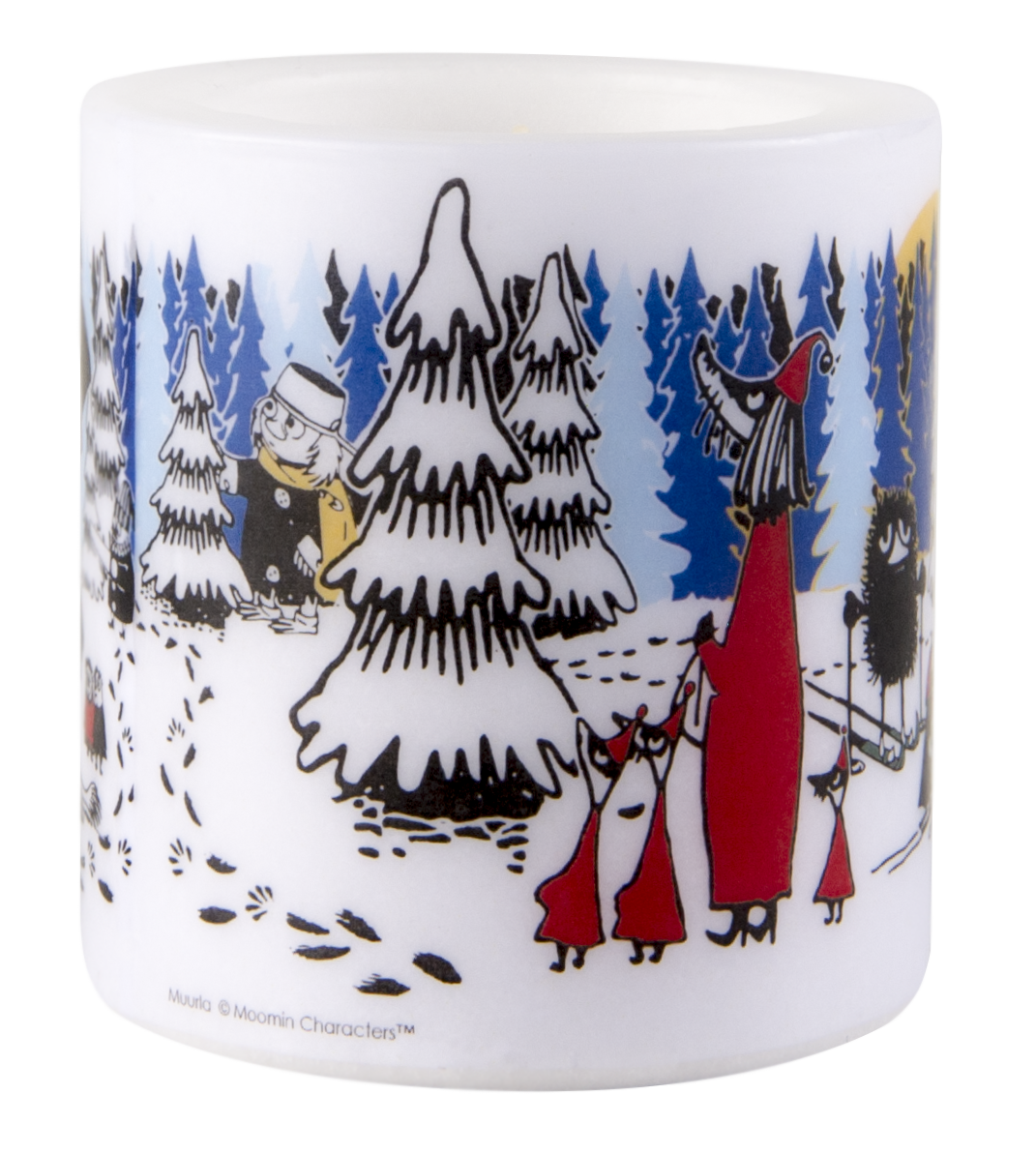 Muurla Moomin Winter Forest candle 8cm